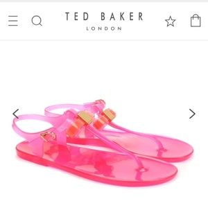 dc31a1637903 Ted Baker Shoes - Ted Baker pink DEYNAA Jelly bow gladiator
